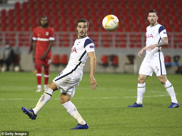 Harry Winks (left) was another player who struggled to gain a foothold against Antwerp