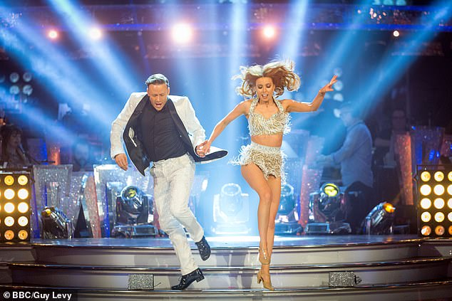 Taking it by storm:The professional dancer, 38, who won the show alongside girlfriend Stacey Dooley in 2018, announced he was leaving the show after seven years before lockdown