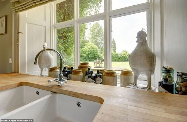 Sowerbys Holiday Cottages described the property (above) at the time as a 'gorgeous house' and a 'fine period property full of character with an old world charm, being lovingly furnished in a relaxed contemporary style for use as a family second home by its interior designer owner'