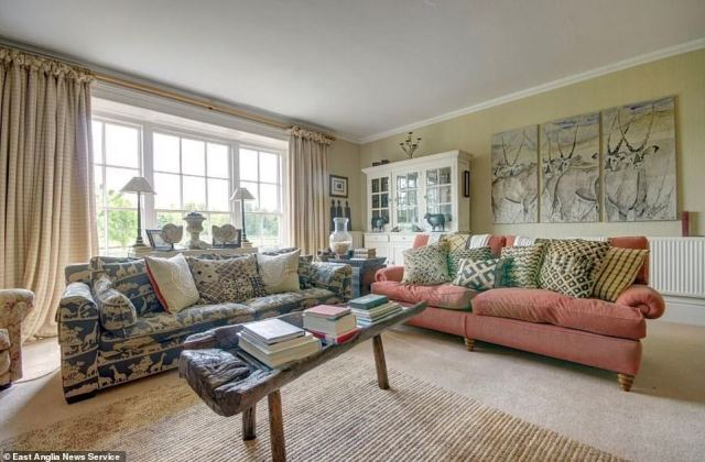 The website warns that prospective tenants will be carefully vetted to make sure they are suitable and that they will be expected to live full time in the hall. Pictured, one of the living spaces in the property