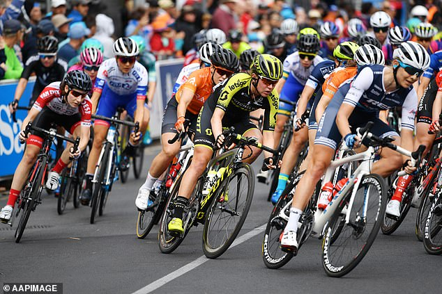 Australian cycling's two biggest annual events have been rubbed off the 2021 calendar because of the global pandemic. Pictured: The women's Tour Down Under 2020