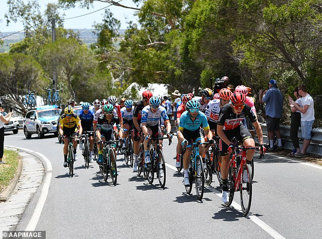Adelaide's Tour Down Under (pictured in 2020) and Victoria's Cadel Evans Great Ocean Road Race bowed to the inevitable on Sunday night, making their announcements within minutes of each other