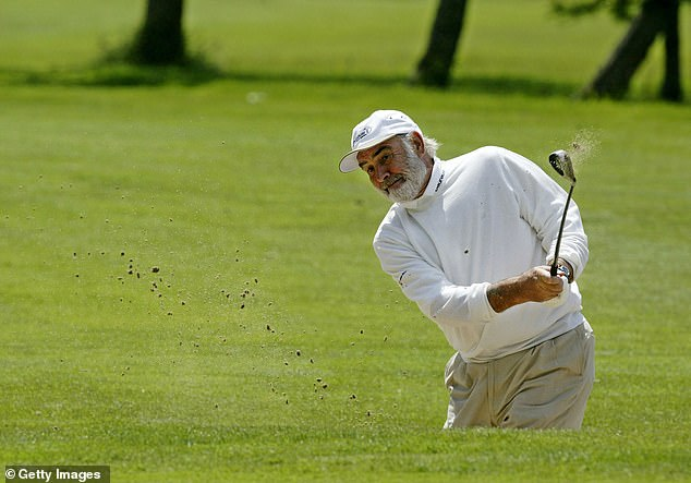 The actor played golf almost every morning, often with his wife. Connery is said to have helped with his course in Turnberry; the actor was then made the club's first member