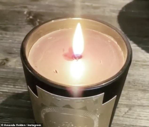 Remembrance: Earlier this month, Amanda shared footage of herself lighting a candle in remembrance of her son Theo who was tragically stillborn at seven months in 2011