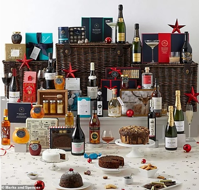 Pricey: Marks and Spencer have unveiled a Christmas hamper at a cost of £999.99 this year