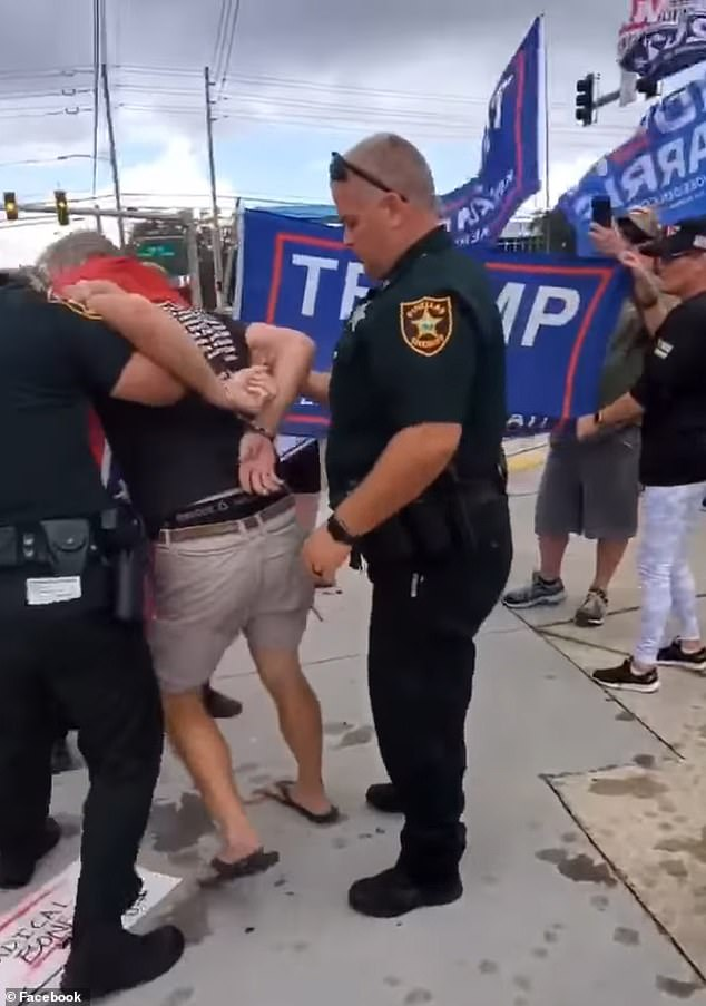 When a Pinellas deputy attempted to pull Rexroat away from supporters the deputy ended up striking him in the arm and elbowed him in the back