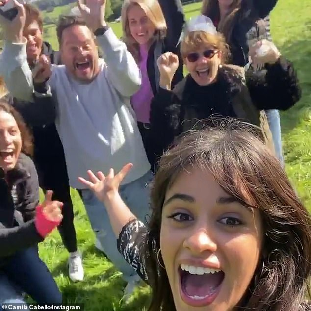 'I can't wait for all of you to see this movie!' Cabello wrapped the titular role in Kay Cannon's modern live-action remake of Cinderella at England's Waddesdon Manor on October 1