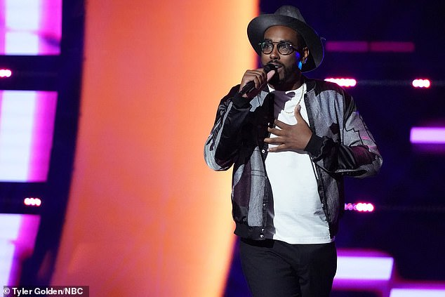No chairs:Apropos, a 31-year-old artist from Detroit, failed to get any of the coaches to turn their chairs for him, but they praised his strong voice