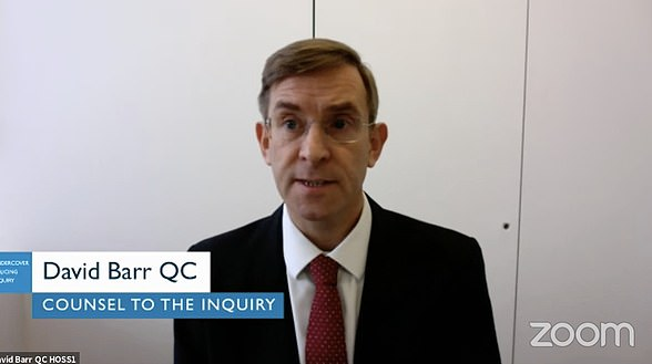 Counsel to the inquiry David Barr, QC, revealed on the first day of proceedings it will only be halfway completed by 2023