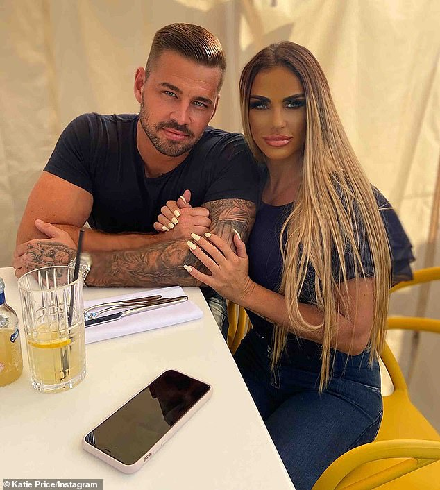 Her love:Katie and her new boyfriend Carl Woods 'hope to have children in the future' as their relationship goes from strength-to-strength