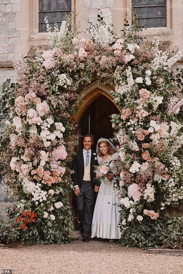 Princess Beatrice and Edo married in a secret ceremony in July at the Royal Chapel of All Saints in Windsor