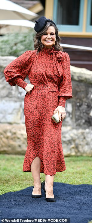 On trend: At the 2020 Melbourne Cup Carnival launch in Sydney last week she had on a similar frock (pictured)