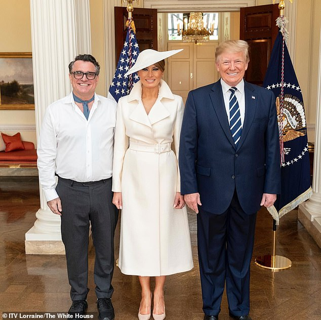 British hairdresser Lino Carbosiero, 56, started working for the First Lady in June 2019 after being recommended for a state visit to the UK by Buckingham Palace