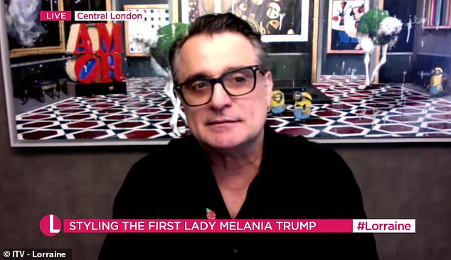 Appearing on Lorraine today, the First Lady's hairstylist told White House staff 'love' both Melania and Donald