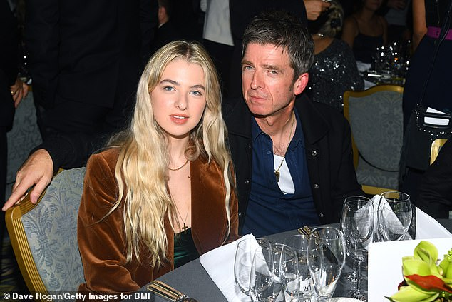 Family: The brothers were said to have been encouraged to mend their relationship by Noel's daughter Anais, 20, (both pictured) and Liam's children Molly, 22, Lennon, 21, Gene, 19
