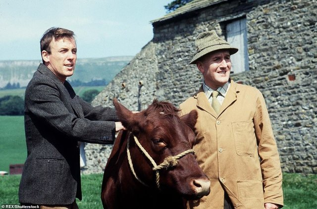 The stunning property, built in 1878, is nestled in the village of Askrigg in the Yorkshire Dales, which doubled as the fictional town of Darrowby in the BBC drama All Creatures Great and Small. Pictured: Christopher Timothy and Robert Hardy in the show