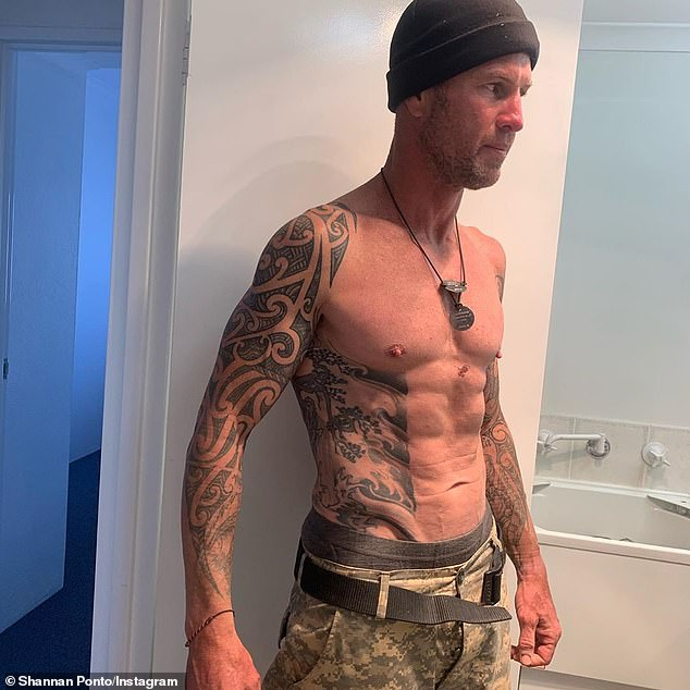 Shocking: The 46-year-old revealed his weight had dropped to 74kg by the end of production and he could 'see the veins in his stomach'