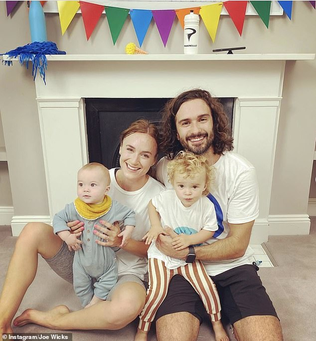 Family: Joe shares two children, daughter Indie and son Marley, with his glamour model wife Rosie Jones, who appears with the fitness star in some of his YouTube videos