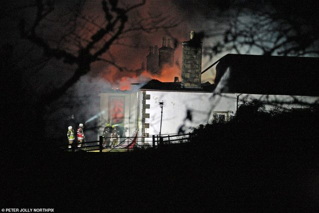 The 18th century Highlands hauntwent up in flames in 2015, destroying the roof and destroying most of the interior.The house was unoccupied and there were no casualties