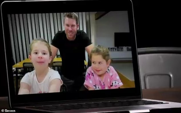 Candice's younger daughter Indi [right] tells her mother: 'I wish you would come back now'
