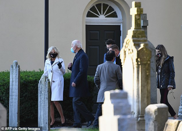 This marks the second time in three days that Biden has paid a visit to the church after he was spotted attending a service there Sunday