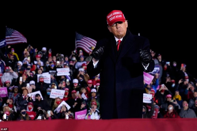 Trump, who held 14 rallies in the last three days leading up to Election Day, also said his large crowd turnouts, reaching into the several thousands, are indicative that he will clinch another four years as US President
