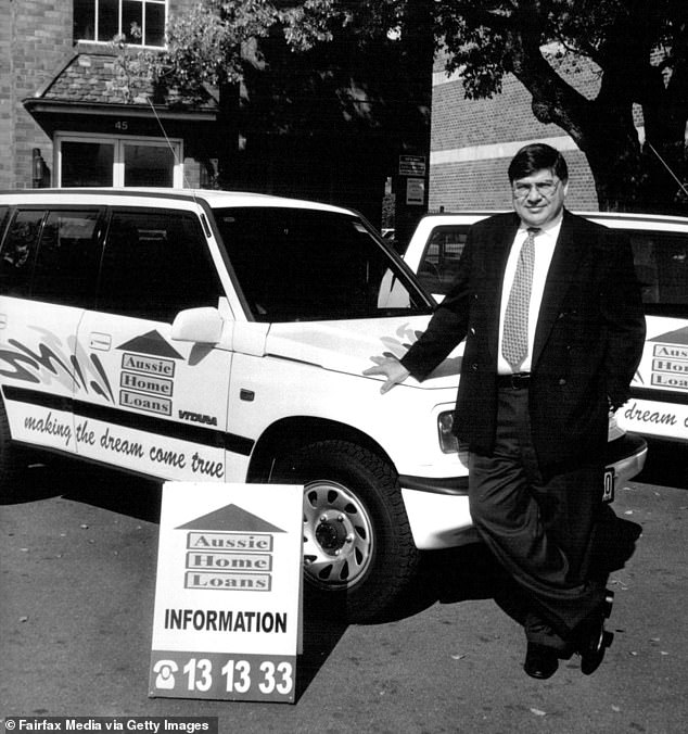 Mr Symond pictured in 1994, just two years after founding Aussie Home Loans
