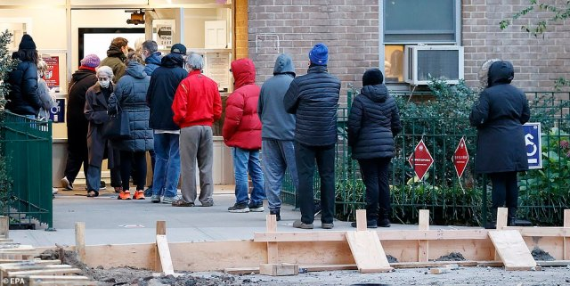 NEW YORK CITY: Voters braved the cold weather in Manhattan's East Village on Tuesday morning at the polling location
