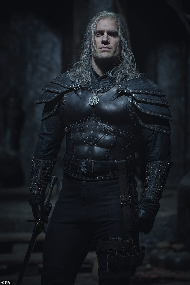 Leading role: The hunk plays the central character Geralt of Rivia in the show