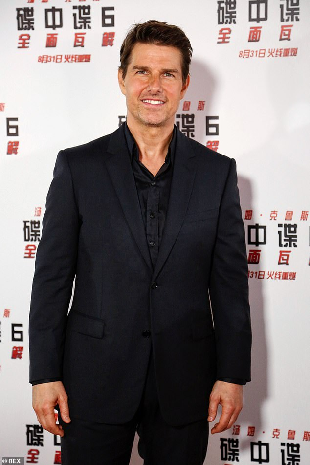 Resemblance?  Paul fans rushed to compliment the TV star on his short brown hair in the 'handsome' snap - with some noting a resemblance to Tom Cruise (pictured in 2018)