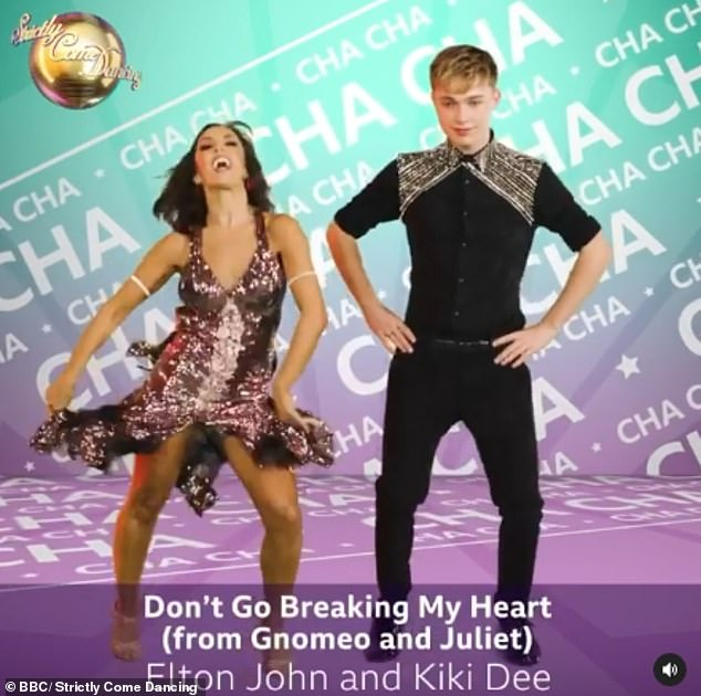 Smash hit: Youtuber HRVY and Janette Manrara will take on the Cha Cha to Don't Go Breaking My Heart by Elton John and Kiki Dee from Gnomeo and Juliet