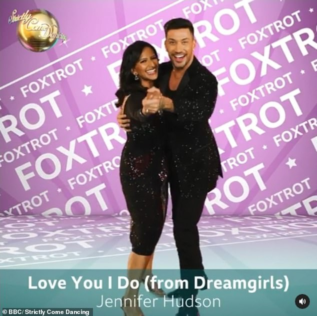 Stunning: Ranvir Singh and Giovanni Pernice will also do their own take on the Foxtrot to Love You I Do by Jennifer Hudson from Dreamgirls