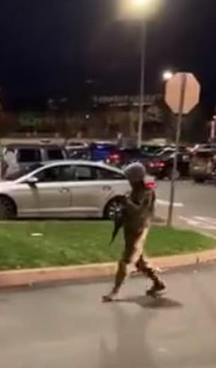 Philadelphia: In Philadelphia, National Guardsmen were seen manning a Target which had been boarded up