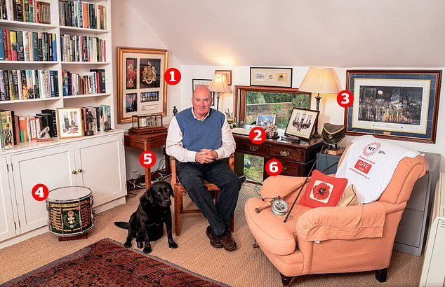 Former British Army Chief of the General Staff, Lord Dannatt, 69, reveals the items of personals significance in his Norfolk home, including a a special silver poppy and a barograph he once gifted to his father