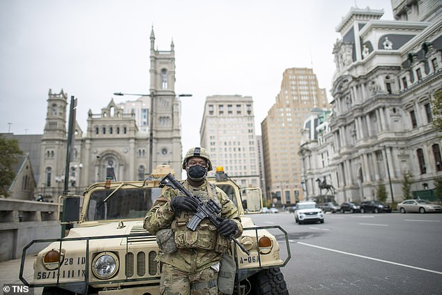 The National Guard have been in Philadelphia in recent weeks to respond to riots over the police killing of Walter Wallace Jr.