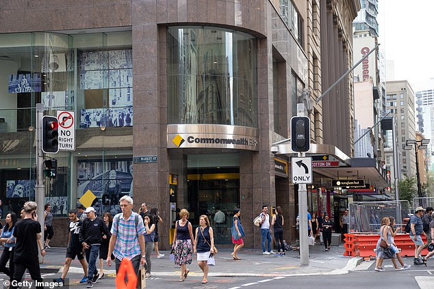 The Commonwealth Bank has made history as Australia's first ever major bank to offer a mortgage rate of less than two per cent. Pictured is a Sydney city branch