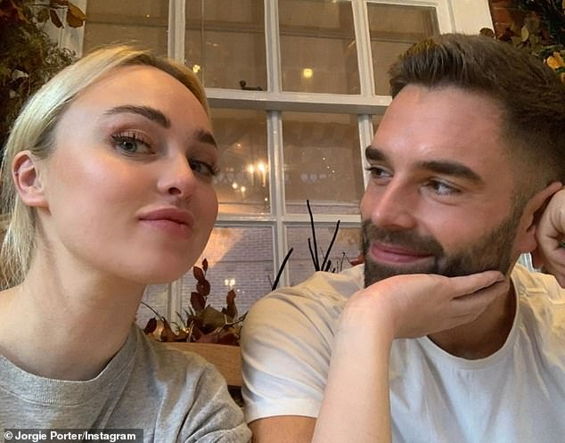 Romance:The blonde beauty went Instagram official with businessman Ollie in October, saying: 'I am just so happy and very content and happy right now. I'm having the best time'