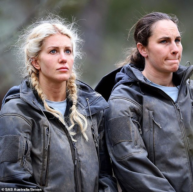 Not for the fainthearted: It's fair to say that Jackson and his SAS Australia co-stars are all pretty tough. Pictured: recruits Ali Oetjen and Molly Taylor
