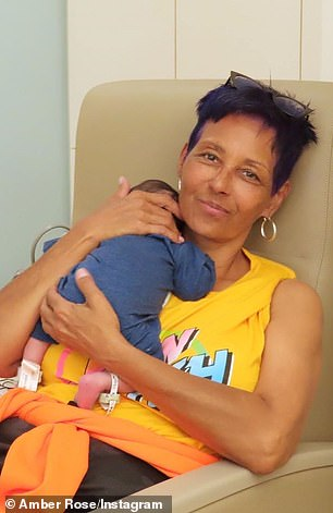 Amber's mother Dorothy Rose is said to be of Cape Verdean African and Scottish descent (pictured in 2019)