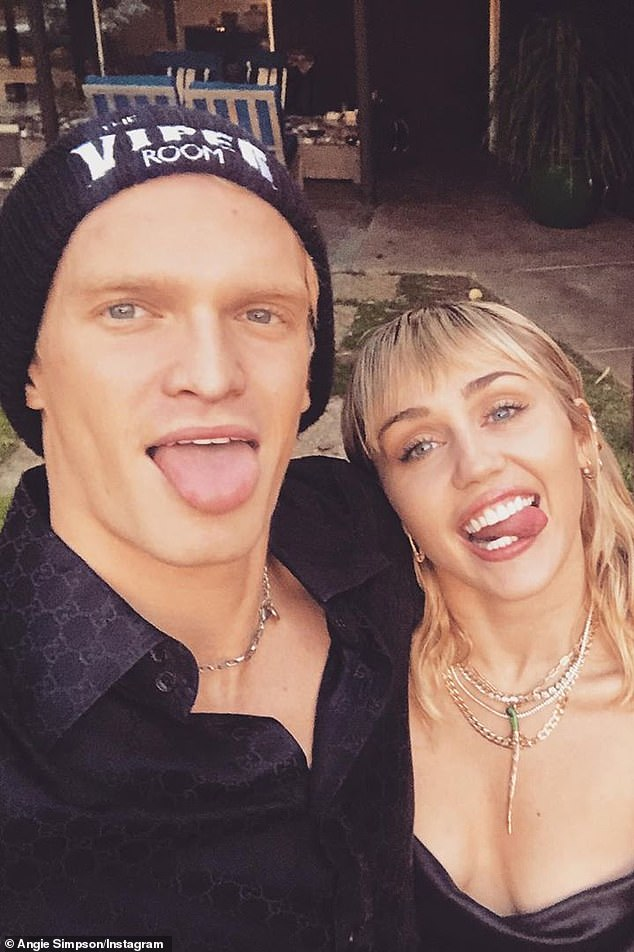Exes: The Australian singer dated Miley (right) for about eight months before calling it quits