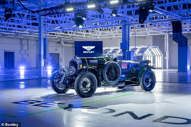 Bentley's chairman, Adrian Hallmark, said: 'Since 1919, Bentley has defined luxury grand touring. Being at the forefront of progress is part of our DNA - the original Bentley boys were pioneers and leaders'
