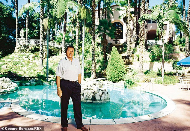 2002: Here I am at my former home, the Pink Palace on Sunset Boulevard in LA, so-called because it was painted pink by one of its previous owners, actress Jayne Mansfield. I lived there for 28 years, Jayne for just eight, but it was always her home. I later painted the house white, but it lost its character so I painted it pink again. Sonny and Cher lived next door and Esther Williams lived opposite. I had dinner with Jayne Mansfield two weeks before she was killed and she invited me to stay with her
