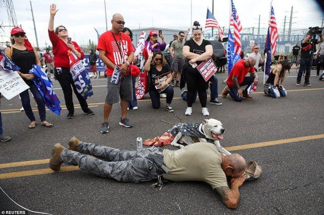 PHOENIX, ARIZONA: Trump supporters prayed as the gap between the candidates closed in Arizona