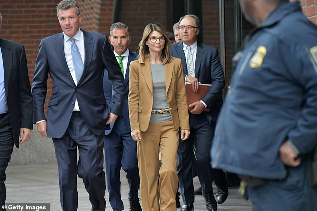 Fall from grace: The other Hollywood names uncovered as part of the federal investigation into the bribery scandal included actress Lori Loughlin and her husband, fashion designer Mossimo Giannulli