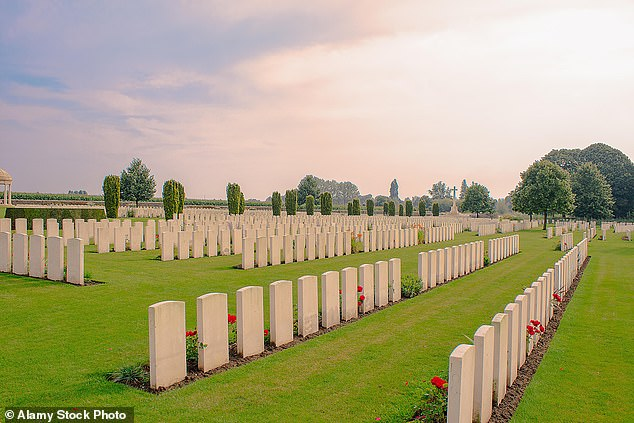 Four bodies were removed, one from each cemetery where one was chosen at random. Each of the bodies was wearing a British uniform, though there was no way to identify the fallen soldiers