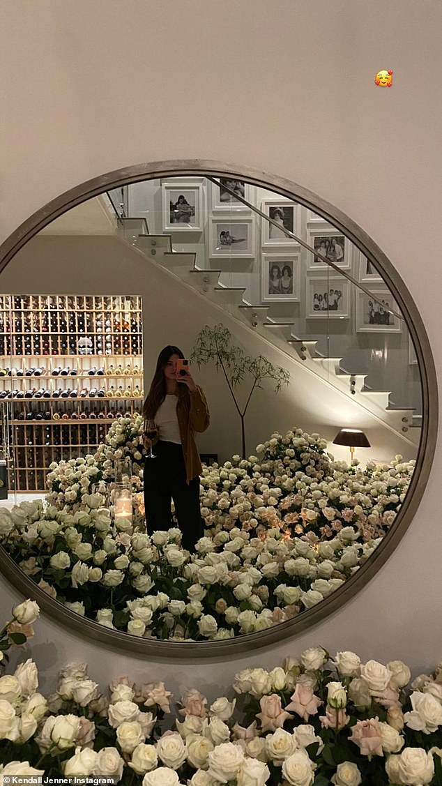 Wow: On Friday, Kendall also showed off birthday flowers she received; she turned 25 on November 3