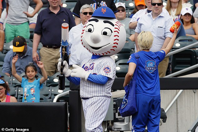 New York Mets mascot Mr. Met is seen in a file photo. Cohen became chief executive officer and hired former Mets general manager Sandy Alderson as team president in his first move