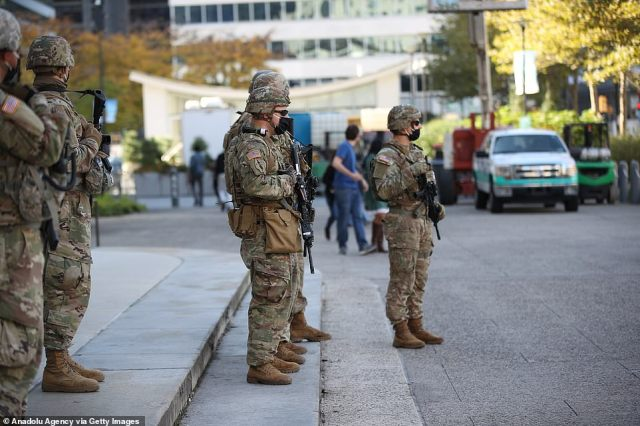 PHILADELPHIA: The National Guard is deployed for possibly unrest after the election results by convention center Philadelphia