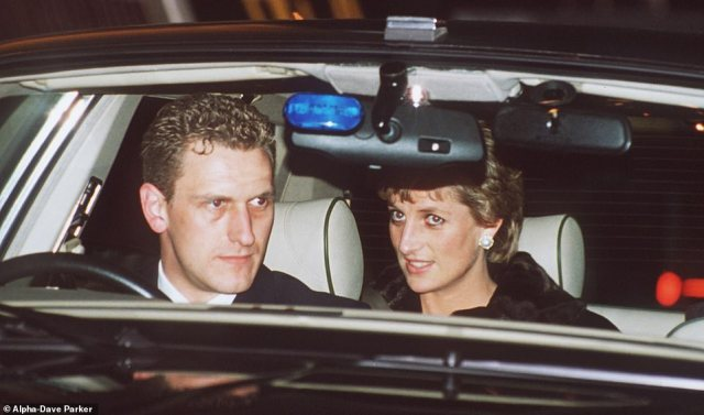 Princess Diana and her chauffer Steve Davis return from New York Heathrow Airport in 1995