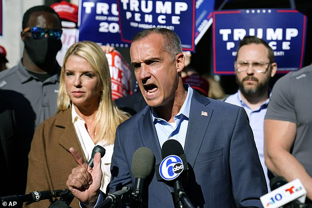 A variety of figures have turned up to push Trump's legal efforts, includingcampaign advisor Corey Lewandowski and former Florida Attorney General Pam Bondi.